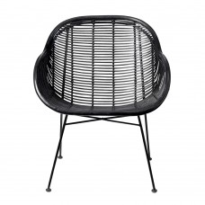 FOTEL RATTANOWY COLLI BLACK BLOOMINGVILLE