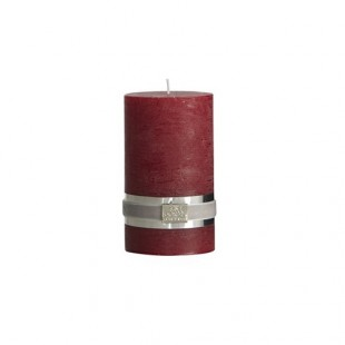 ŚWIECA RUSTIC COLLECTION DEEP RED L LENE BJERRE