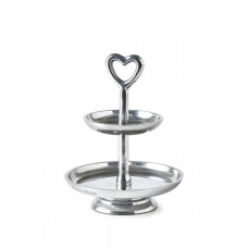 PATERA LOVELY HEART SILVER RIVIERA MAISON