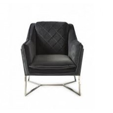 FOTEL WALKER PARK VELVET MIDNIGHT GREY RIVIERA MAISON