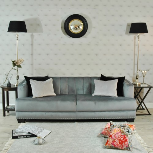 SOFA SHELL PREMIUM VELVET GREY SL COLLECTION