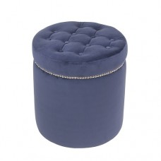 PUF OKRĄGŁY GLAMOUR VELVET NAVY SL COLLECTION