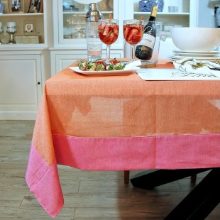 OBRUS DEKORACYJNY ELEGANT ORANGE PINK SL COLLECTION 150X230 cm