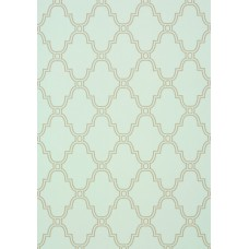 TAPETA THIBAUT STANBURY TRELLIS LINEN ON AQUA 35120