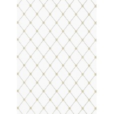 TAPETA THIBAUT WILTON TRELLIS GOLD AND GREY 1845